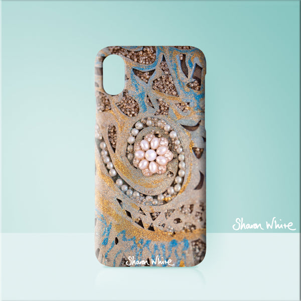 Sharon White Art Phone Case Ascension Swirl