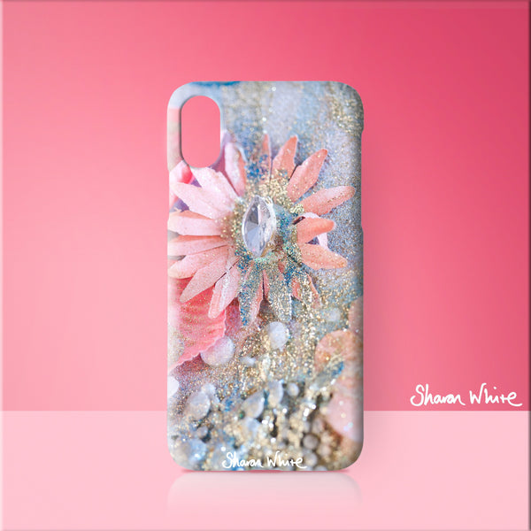 Sharon White Art Phone Case Lightness of Being Arabian Pink