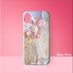 Sharon White Art Phone Case Lightness of Being Delicate Love