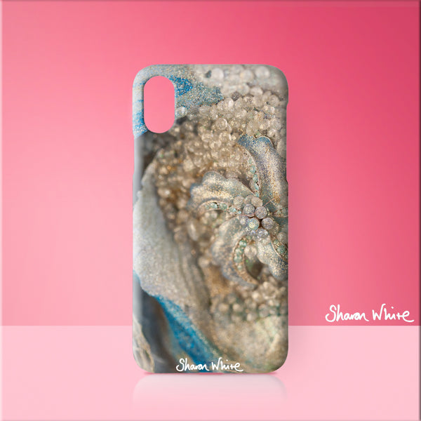 Sharon White Art Phone Case Lightness of Being Diamond Cluster