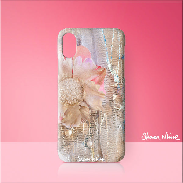 Sharon White Art Phone Case Lightness of Being Protected