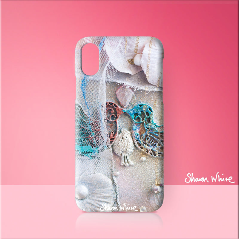 Sharon White Art Phone Case Lightness of Being The Kiss