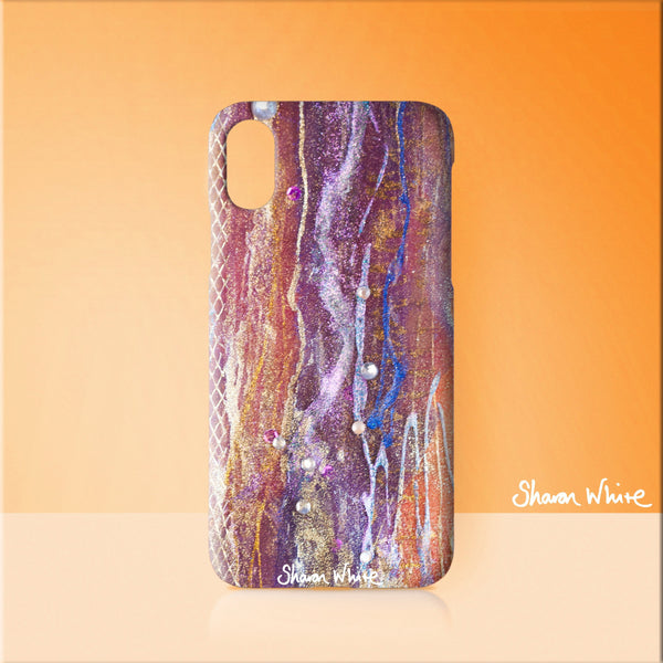 Sharon White Art Phone Case Renewal Fuzzy