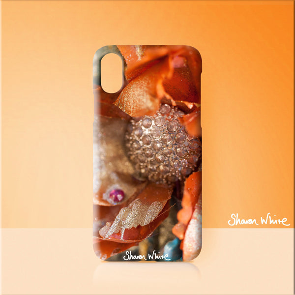 Sharon White Art Phone Case Renewal Orange