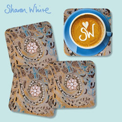 Sharon White Ascension Coasters Swirl