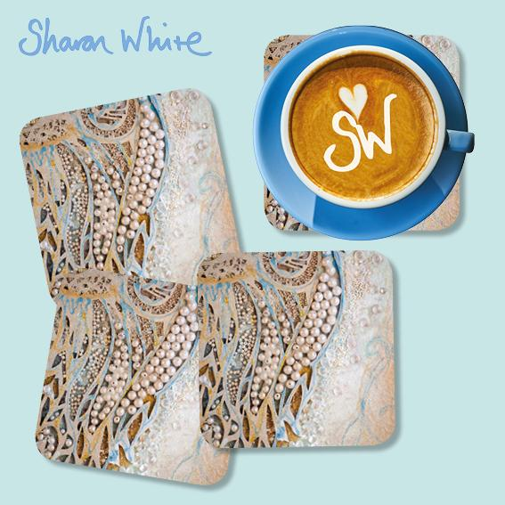 Sharon White Ascension Coasters Asymmetric Pearl