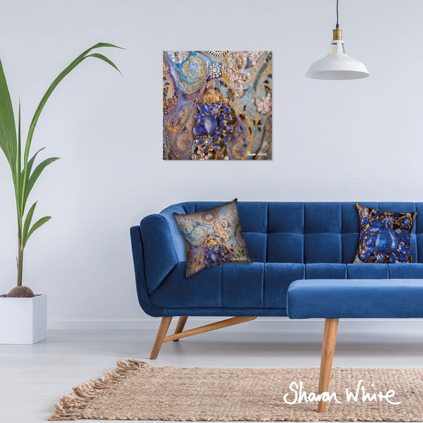 Sharon White Wall Art Canvas Ascension Collection Jewels