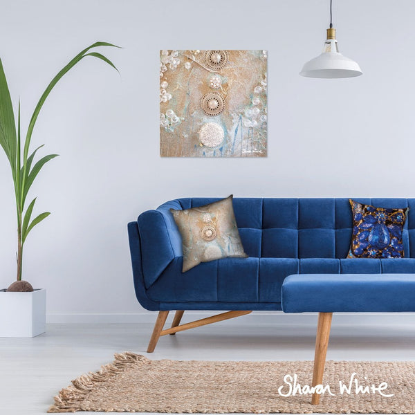 Sharon White Wall Art Canvas Ascension Collection Quiet