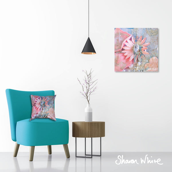 Sharon White Wall Art Canvas Lightness of Being Collection Arabian Pink
