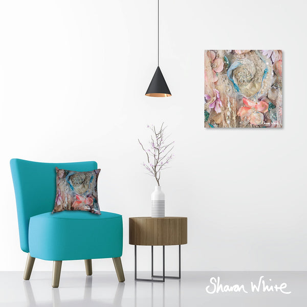 Sharon White Wall Art Canvas Lightness of Being Collection Secret Bloom