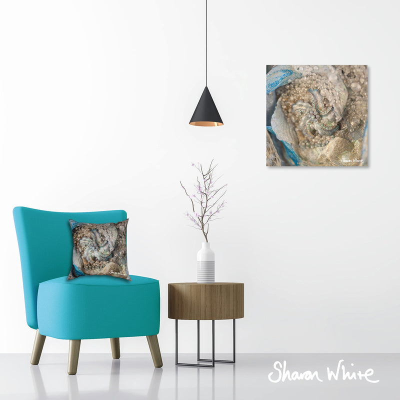 Sharon White Wall Art Canvas Lightness of Being Collection Diamond Cluster