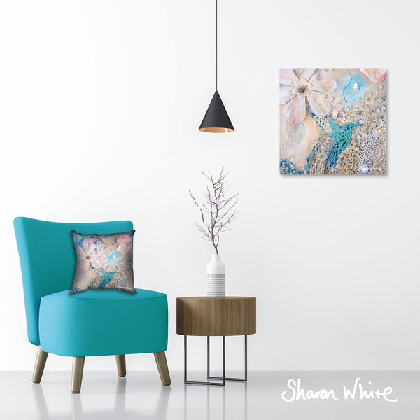 Sharon White Wall Art Canvas Lightness of Being Collection Tranquil
