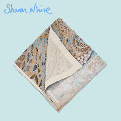 Sharon White Art Ascension Napkin Range Asymmetric Pearl
