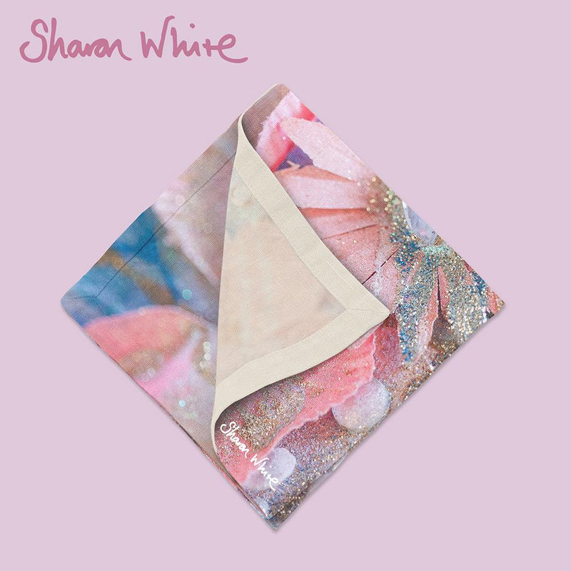 Sharon White Art Lightness of Being Napkin Range Arabian Pink