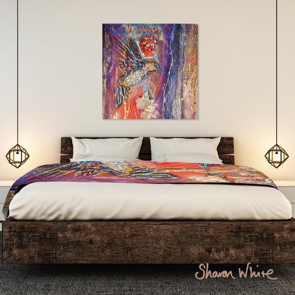 Sharon White Wall Art Canvas Renewal Collection Flowers