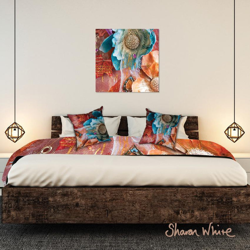 Bed Runner Collection Renewal Amber Nectar wall art