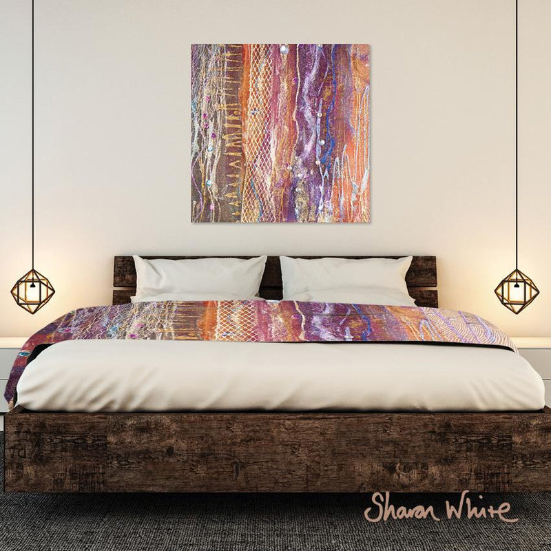 Bed Runner Collection Renewal Fuzzy Sequence wall art