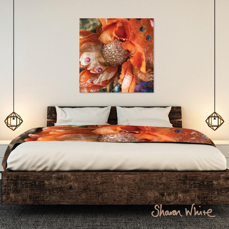 Sharon White Wall Art Canvas Renewal Collection Orange