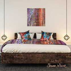 Sharon White Wall Art Canvas Renewal Collection Dynamic Stripe