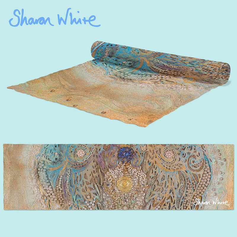 sharon white art Table Runner Ascension Asymmetric Pearl