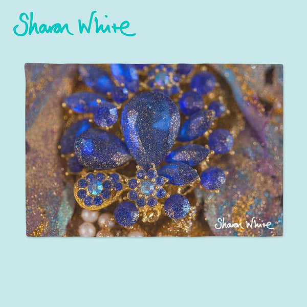 Sharon White Art Ascension Napkin Range Ocean Jewel