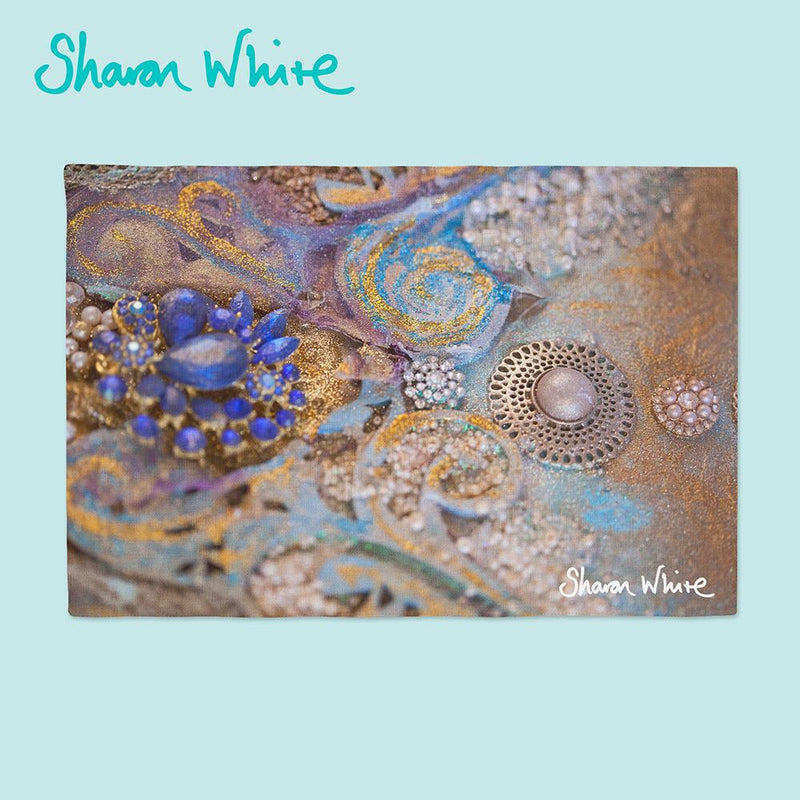 Sharon White Art Chopping Board Ascension Jewels