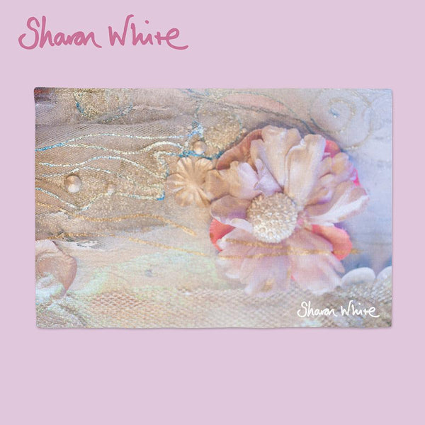 Sharon White Art Chopping Board Lightness of Being Delicate Love