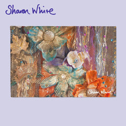 Sharon White Art Chopping Board Renewal Bloom
