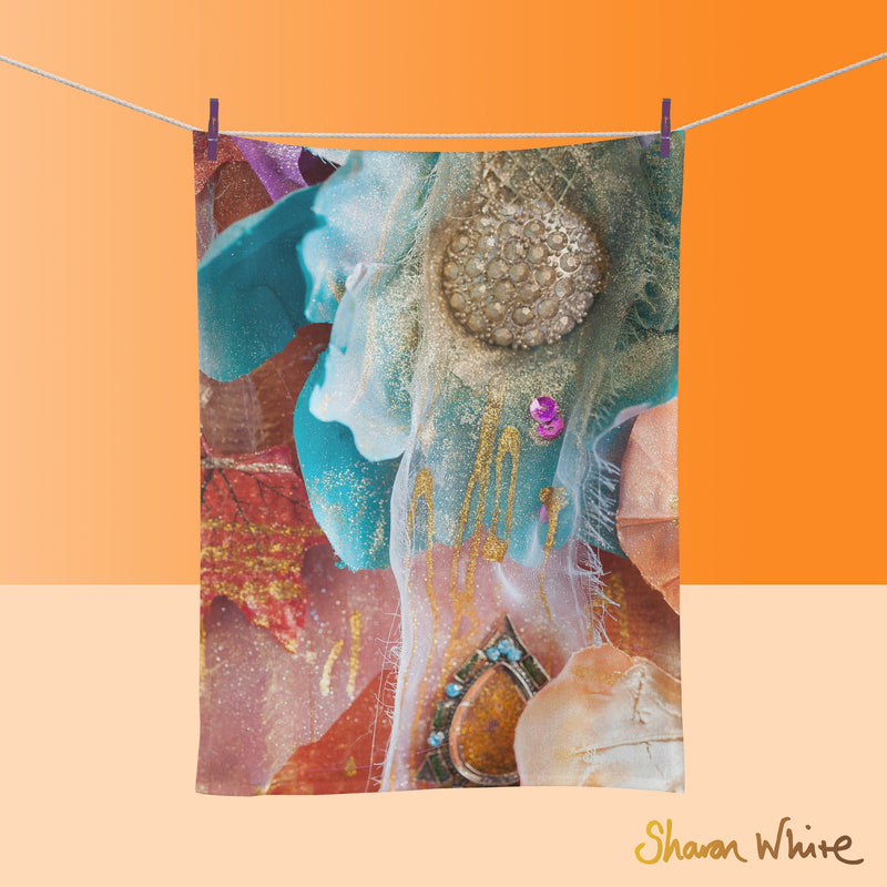 Tea Towels by Sharon White Art Renewal Amber Nectar