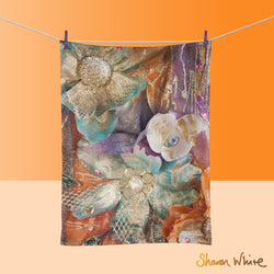 Tea Towels by Sharon White Art Renewal Bloom