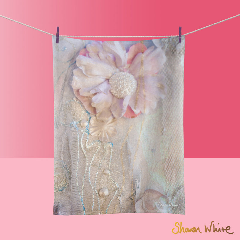 Tea Towels by Sharon White Art Lightness of Being Delicate Love