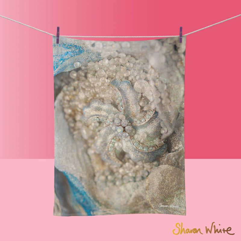 Tea Towels by Sharon White Art Lightness of Being Diamond Cluster