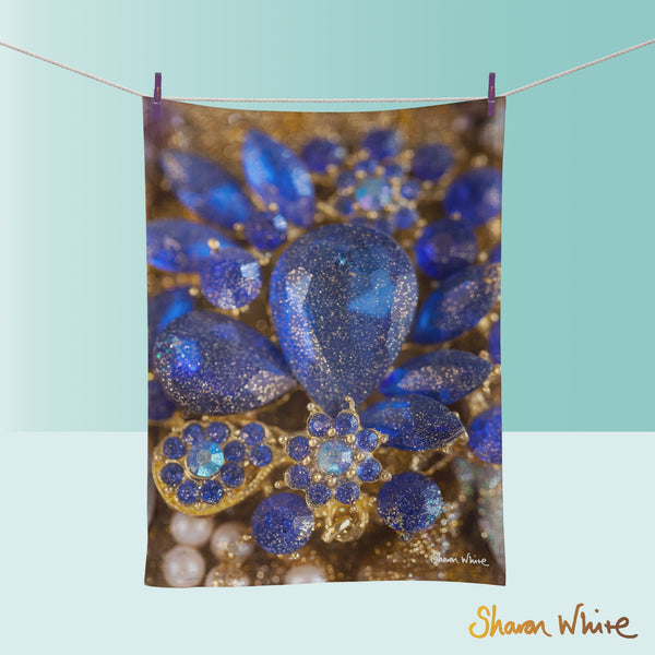 Tea Towels by Sharon White Art Ascension Ocean Jewel