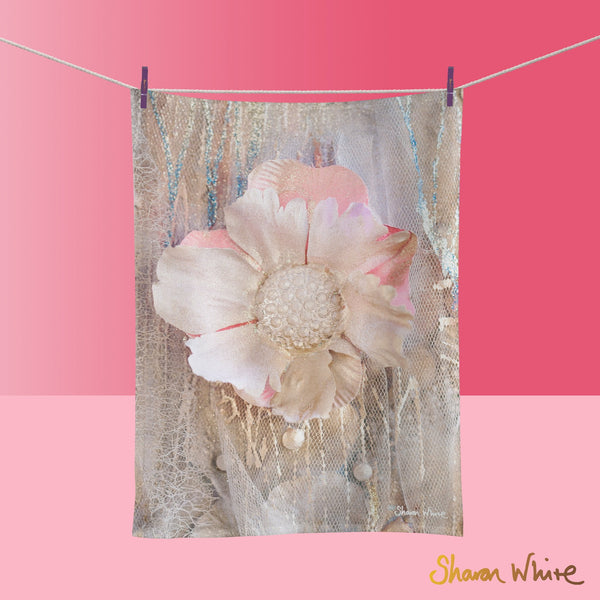 Tea Towels by Sharon White Art Lightness of Being Protected