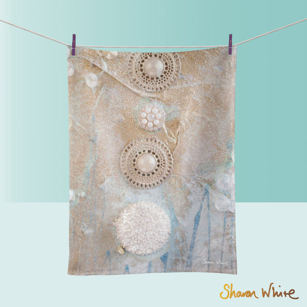Tea Towels by Sharon White Art Ascension Quiet