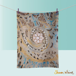Tea Towels by Sharon White Art Ascension Swirl