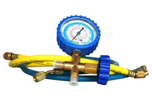 Ideal-Air HVAC Compound Pressure-Vacuum Gauge and Hose Set