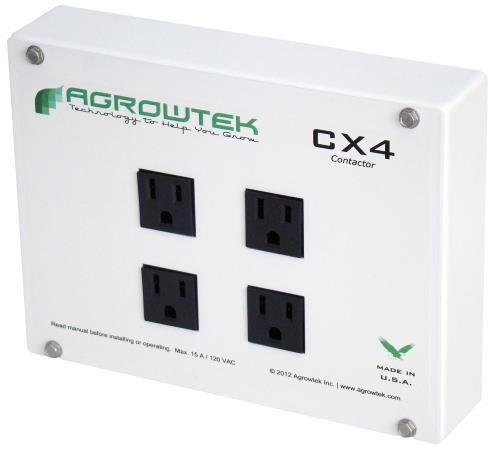 Agrowtek CX4 Quad Outlet Contactor 15A/120V