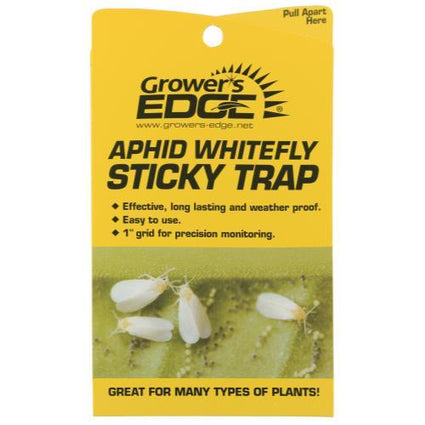 Grower's Edge Sticky Aphid Whitefly Trap 5/Pack (80/)