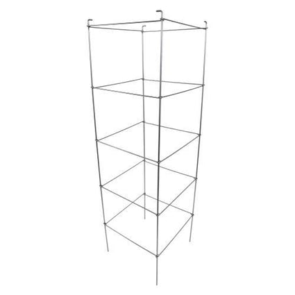 Grower's Edge High Stakes Commercial Grade Square Folding Tomato Cage - 5 Tier - 60 in x 17.5 in x 17.5 in