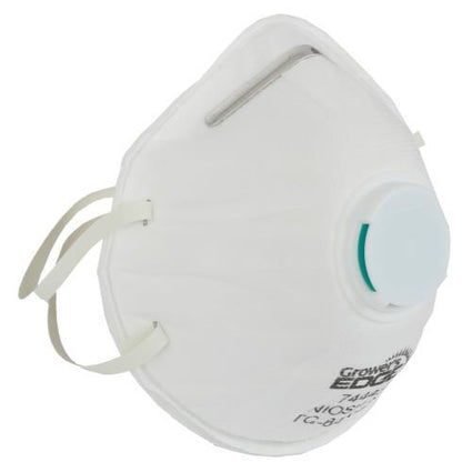 Grower's Edge Clean Room Conical Particulate Respirator Mask w/Valve