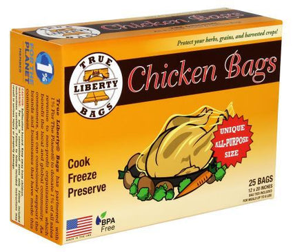 True Liberty Chicken Bags 12 in x 20 in (25/Pack)