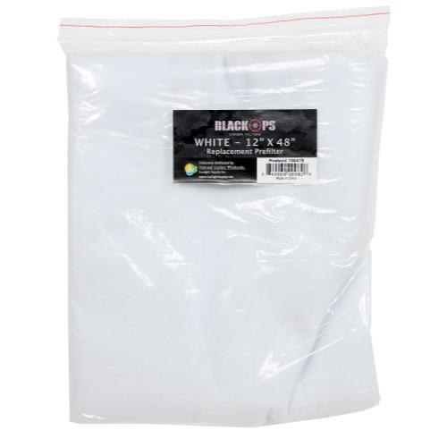 Black Ops Replacement Pre-Filter 12 in x 48 in White