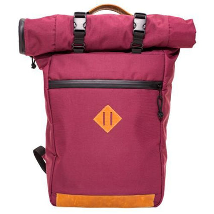 Abscent Scout Roll-Top Backpack - Crimson