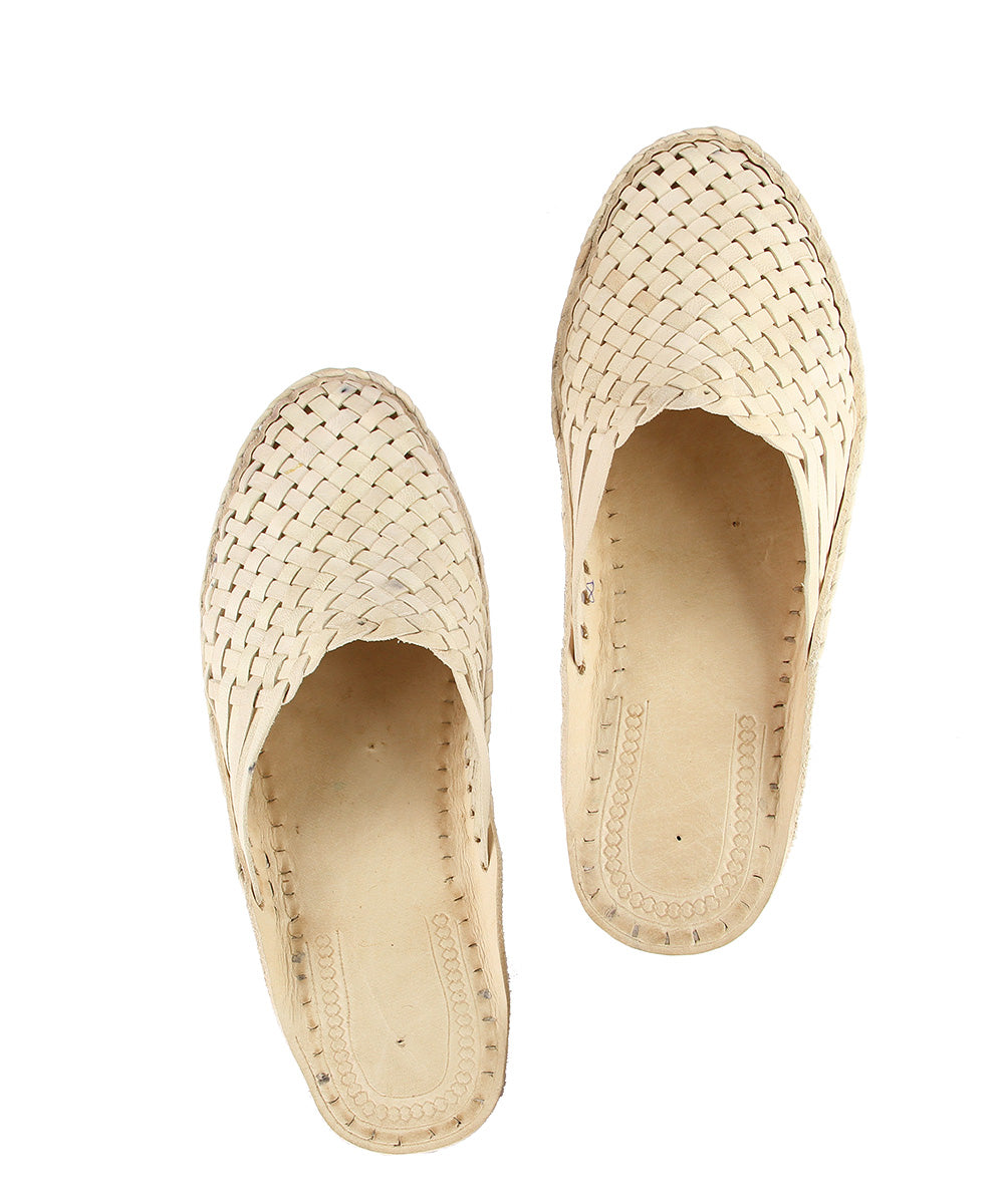 Beautiful natural mat style Kolhapuri half shoe KRKA-M-302