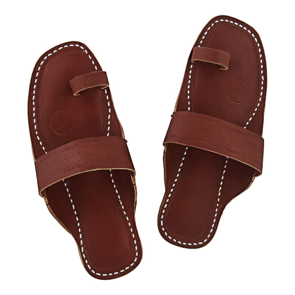 Premium Quality Wonderful Red Brown Kolhapuri Chappal for Men KRKA-P-M-017