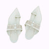 Premium Quality Royal Look White Kolhapuri Chappal for Men KRKA-P-M-092