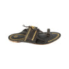 Premium Quality Historic Design Dark Blue Golden Rivets Authentic Kolhapuri Chappal for Men KRKA-P-M-095