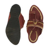 Premium Quality Legendary Red Brown Golden Rivets Authentic Kolhapuri Chappal for Men KRKA-P-M-098