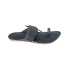 Premium Quality Old-fashioned Look Kapshi Dark Blue Kolhapuri Chappal for Men KRKA-P-M-099